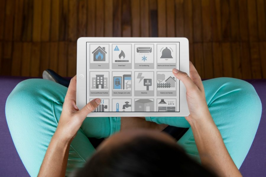 Fixflo proptech software being used on tablet