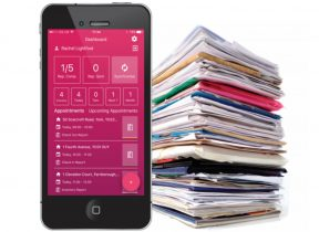 TouchRight software on smartphone to replace paper reporting