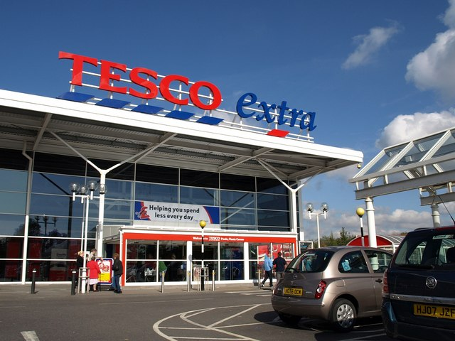Tesco store by Derek Harper