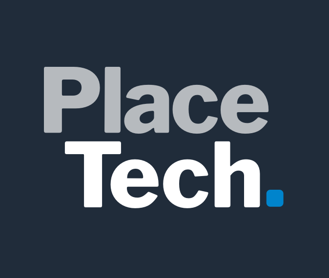 Grey Background Colour Square PlaceTech Logo Social