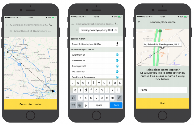 Birmingham Smart Routing Commuter App
