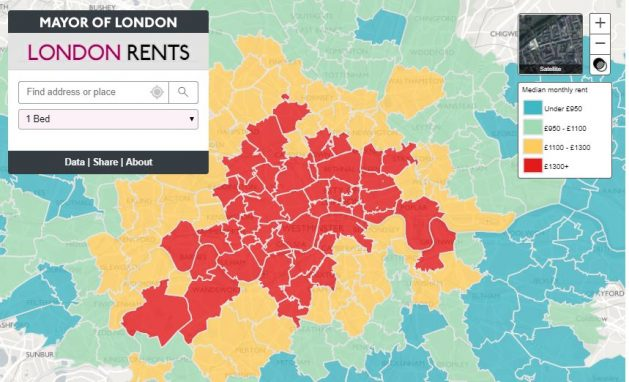 London Rental Map