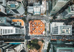 Singapore Aerial View Cool Tech