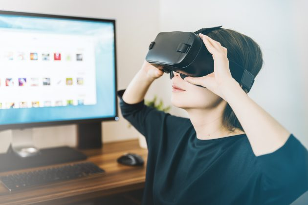 Virtual Reality Headset Used On Jargon Buster
