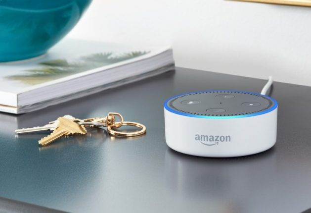 Echo Dot White Shelf