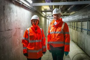Geospatial Commission Minister Dowden With Heidi Mottra CEO Of Northumbrian Water