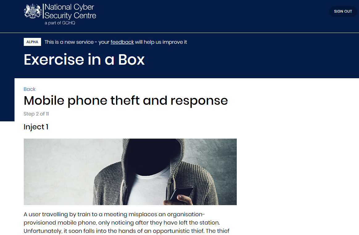 National Cyber Security Centre Mobile Phone Theft