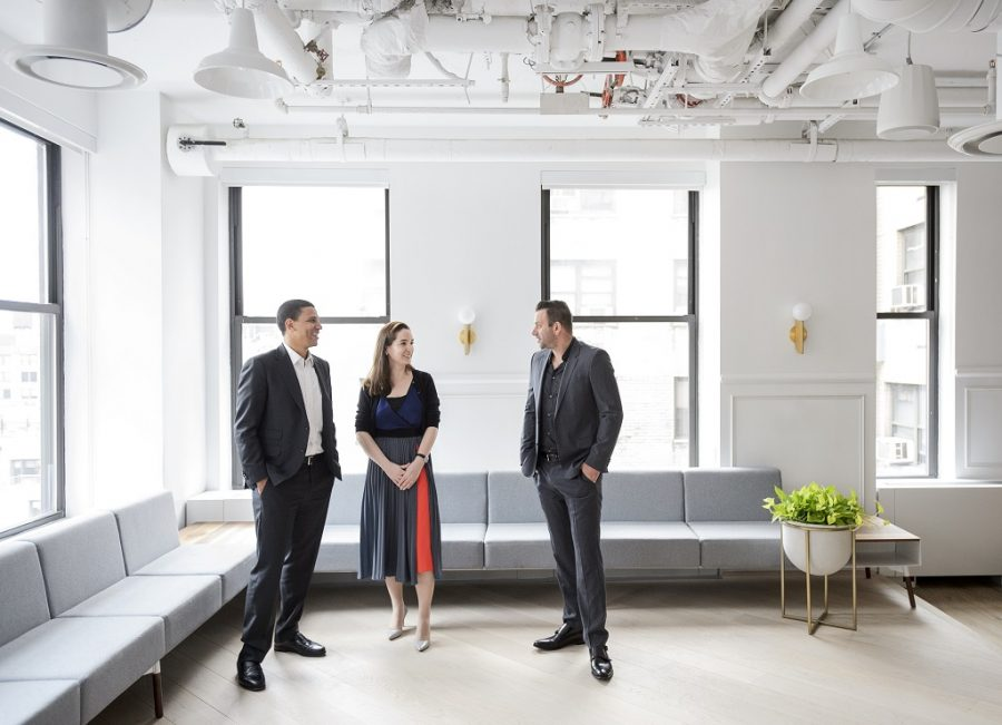 Compass Funding, From Left Robert Reffkin, Founder And CEO Maelle Gavet, COO Ori Allon, Founder And Executive Chairman