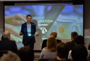 Geovation Hipla presentation at recent showcase by Adam Phillips, managing director of Ordnance Survey GB