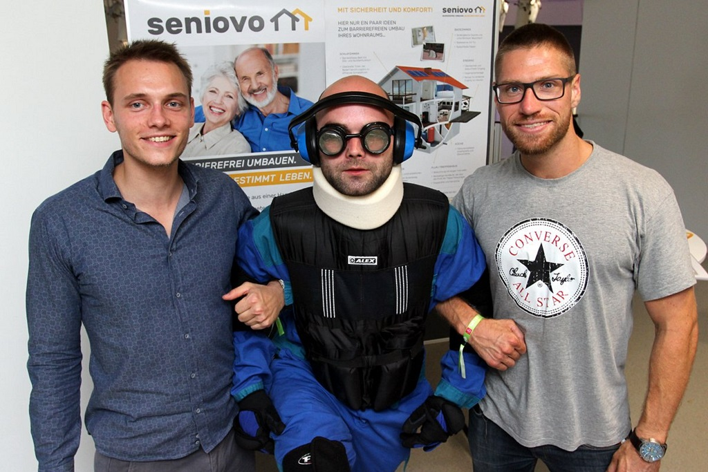 Seniovo Suit Showing Difficulties Older People Face, From Left Markus Michnik, CRM Developer And Jonathan Kohl, CEO