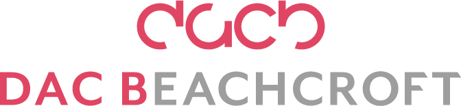 DAC Beachcroft Corporate Logo Use On Charcoal CMYK