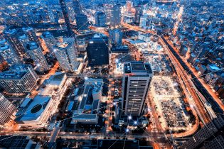 Technology Smart City With Network Communication Internet Of Thing