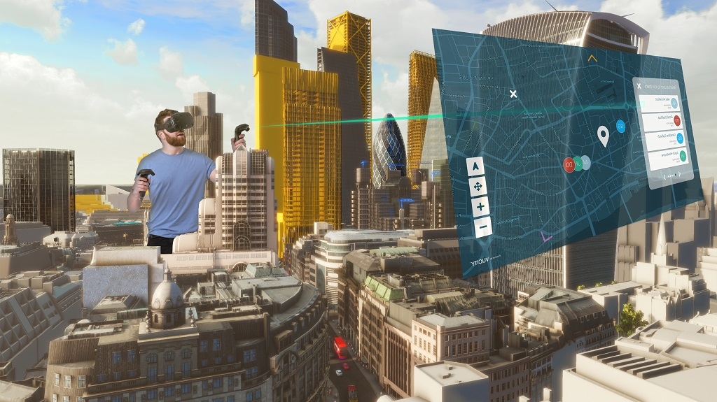 A Fully Interactive Virtual Reality game creator Billy Xiong Model Of The Square Mile Has Launched Showing Consented And Planned Developments. Credit VU.CITY