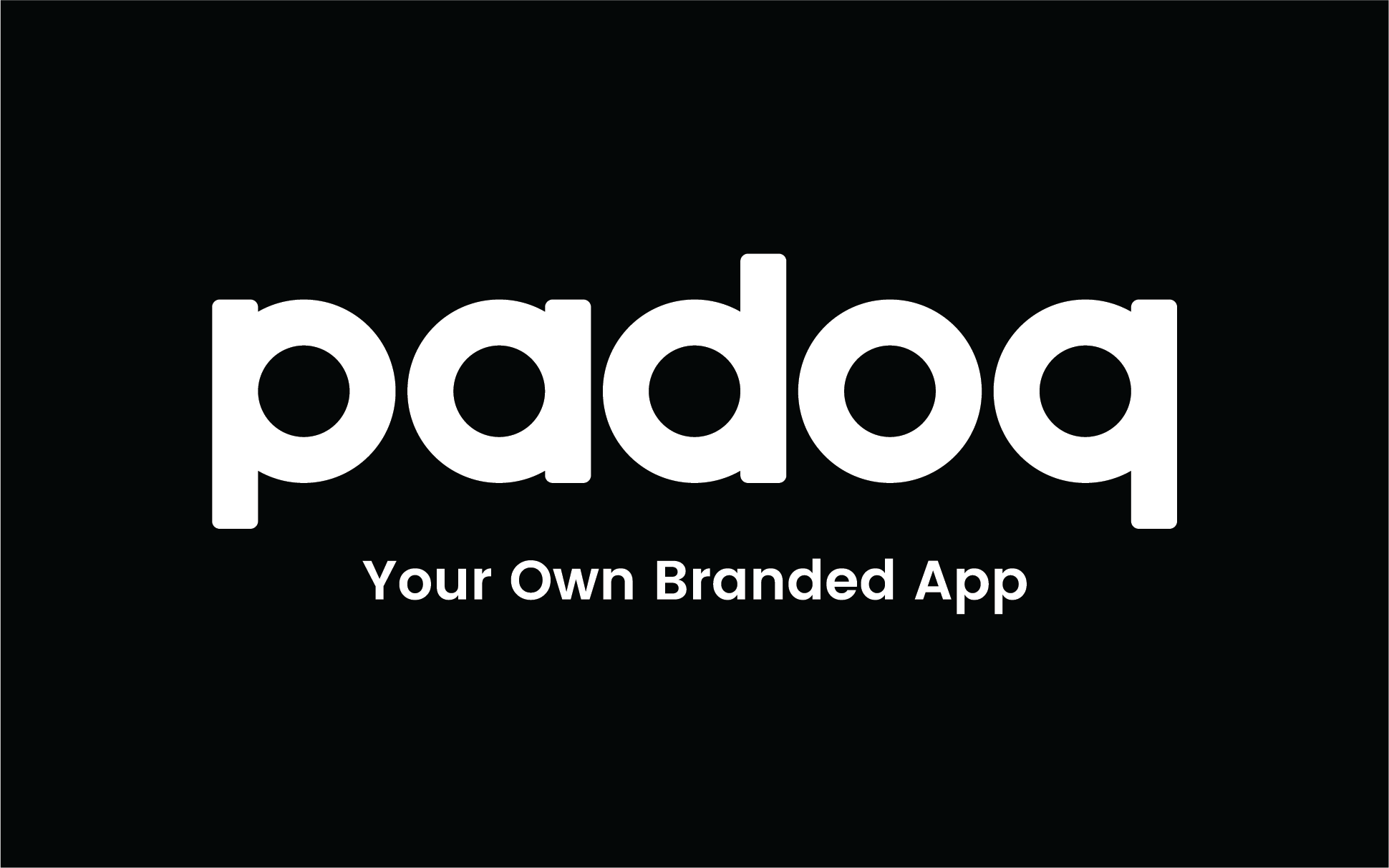 Padoq Logo Your Own Branded App Black Background (1)