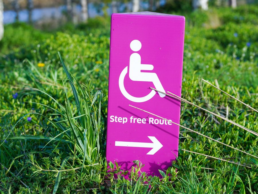 Accessibility wheelchair sign
